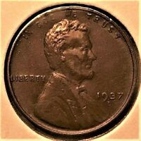 EXTRA FINE 1937 D LINCOLN WHEAT CENT FROM HIGH GRADE COLLECTION EXTRA FINE  TO AU