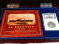 US COIN SS REPUBLIC SHIPWRECK COIN BOX PAPERS 1853 O SEATED