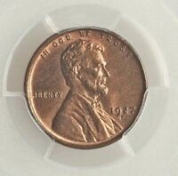 1927 D LINCOLN WHEAT CENT 1C PCGS & CAC MINT STATE 65 RB FABULOUS SHIPS FREE