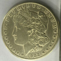 1902-S MORGAN SILVER DOLLAR EXTRA FINE   DATE
