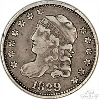 1829 CAPPED BUST HALF DIME .05C EARLY SILVER US COIN 15326