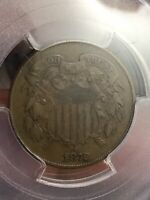 PCGS VF30 1872 TWO CENT PIECE KEY DATE  AND ORIGINAL