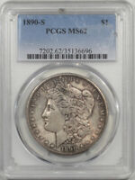1890-S MORGAN DOLLAR PCGS MINT STATE 62