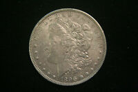 1896 MORGAN SILVER DOLLAR $ , AU ABOUT UNCIRCULATED, US COIN,