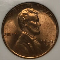 1949-S LINCOLN WHEAT CENT PENNY NGC MINT STATE 65 RB