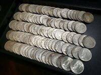 FIVE ROLLS 100 COINS PEACE SILVER DOLLARS CIRC, SOME BETTER GRADES 1922-1926