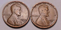 1927 S AND 1927 D LINCOLN WHEAT CENT CENT - LOT OF 2 COINS  -  SHIPS FREE
