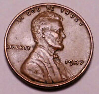 1937 P LINCOLN WHEAT CENT PENNY -   ->BETTER GRADE - WHEATS<-