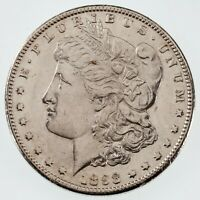 1898-S $1 SILVER MORGAN DOLLAR AU CONDITION, LOOKS UNC, JUST ABOUT ALL WHITE