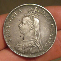 GREAT BRITAIN   1887 LARGE SILVER DOUBLE FLORIN