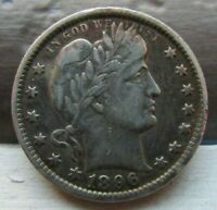 1896 O 25C BARBER QUARTER      KEY DATE     RARE NEW ORLEANS