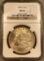 1899 O MORGAN SILVER DOLLAR NGC MINT STATE 65 - NEW ORLEANS MINT - BEAUTIFUL COIN