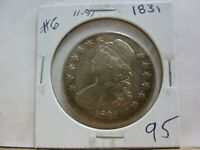 1831 CAPPED BUST SILVER HALF DOLLAR 11 91