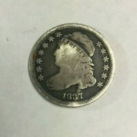 1837 CAPPED BUST SILVER DIME   RAW SKU668