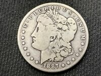 1887-O  MORGAN DOLLAR   VG F      3 OR MORE  FREE S/H      90 SILVER   A770