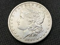 1887-O  MORGAN DOLLAR   EXTRA FINE       3 OR MORE  FREE S/H      90 SILVER   A805