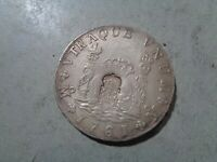 PORTUGAL  ANTIQUE COUNTERSTAMPED SPANISH COIN 1761