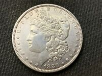 1880-O  MORGAN DOLLAR   AU UNC      3 OR MORE  FREE S/H      90 SILVER   A872