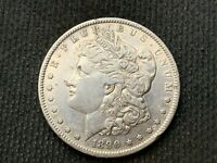 1890-S   MORGAN DOLLAR   AU      3 OR MORE  FREE S/H      90 SILVER   A861