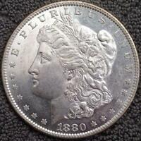 1880-O MORGAN SILVER DOLLAR - BEAUTIFUL BETTER DATE - CHOICE HIGH GRADE, SEMI PL