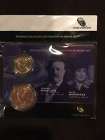 2013 THEODORE ROOSEVELT $1 PRESIDENTIAL COIN AND SPOUSE MEDA