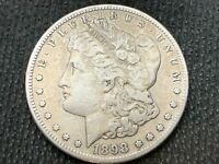 1898-S  MORGAN DOLLAR   F VF       3 OR MORE  FREE S/H      90 SILVER   A920