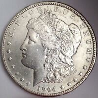 1904 PHILADELPHIA MORGAN SILVER DOLLAR - ATTRACTIVE COIN - TOUGH IN HIGH GRADES