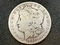 1898-S   MORGAN DOLLAR   VG      3 OR MORE  FREE S/H      90 SILVER   A935