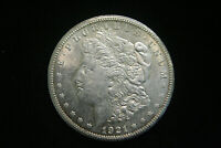 1921 S MORGAN SILVER DOLLAR $ , AU ABOUT UNCIRCULATED , US COIN,