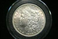 1890 S MORGAN SILVER DOLLAR $ , AU ABOUT UNCIRCULATED , US COIN,