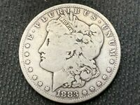 1883-S   MORGAN DOLLAR   F        3 OR MORE  FREE S/H      90 SILVER   A969