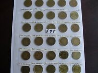 30 LOONIE COIN CANADA $1 DOLLAR COLLECTION LOT CANADIAN ALL DIFFERENT  598