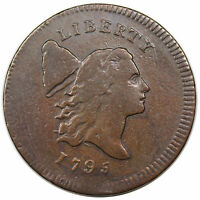 1795 LIBERTY CAP HALF CENT PLAIN EDGE NO POLE C 6A R2 NICE VF