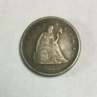 1875 CC TWENTY CENT PIECE   RAW   SKU8115