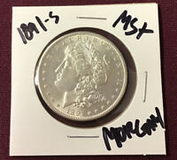 1891-S UNGRADED MORGAN SILVER DOLLAR MS SUPER GEM