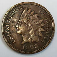 1909 S US INDIAN HEAD PENNY 1 ONE CENT 1C KEY DATE COLLECTOR