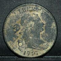 1797 LARGE CENT  XF EXTRA FINE DETAILS  1C DRAPED BUST COIN  NOW TRUSTED