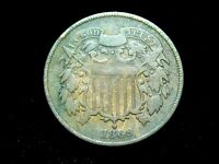 1869 2C TWO CENT SHIELD