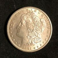 1891-S $1 MORGAN SILVER DOLLAR