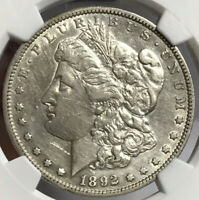 1892-S MORGAN SILVER DOLLAR NGC EXTRA FINE  DETAILS SEEMS TO STILL HAVE LUSTER