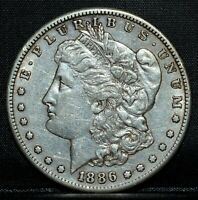 1886-S MORGAN SILVER DOLLAR  CH-EXTRA FINE   $1 CHOICE EXTRA FINE  NOW TRUSTED