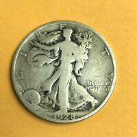1928-S WALKING LIBERTY HALF DOLLAR, US 90 SILVER COIN