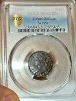 1894 GREAT BRITAIN FARTHING GRADED MS62 BROWN BY PCGS   NICE EXAMPLE