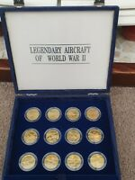 MARSHALL ISLANDS 1991 BUNC 10$ DOLLAR 24X BRASS COIN SET WWI