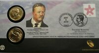 2013 THEODORE ROOSEVELT ONE DOLLAR COIN COVER LIMITED EDITION