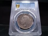 1936 MS64 GREAT BRITAIN 1/2 CROWN S 4037 PCGS CERTIFIED   SU