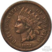 1872 INDIAN HEAD CENT US KEY DATE COIN 16921