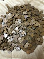HUGE LOT OF 500  1909 1958 P D S LINCOLN WHEAT PENNY COINS