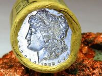 1893 BRIGHT WHITE / S PROOF LIKE END MORGAN DOLLAR ROLL$20 M