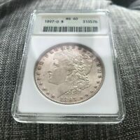 1897-O MINT STATE 60 OLD ANACS MORGAN SILVER DOLLAR